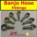 M8 (8mm) BANJO Fitting x 4mm - 5mm Hose Tail
